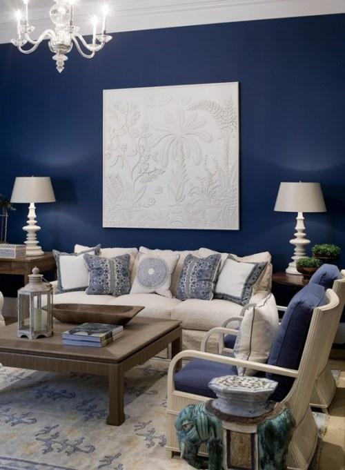 15 Refrescantes Disenos De Salas En Color Azul - Paredes-pintadas-de-azul