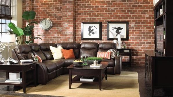 living room designs chocolate brown sofa decorating with dark furniture 18 salas con ladrillos a la vista decoradas