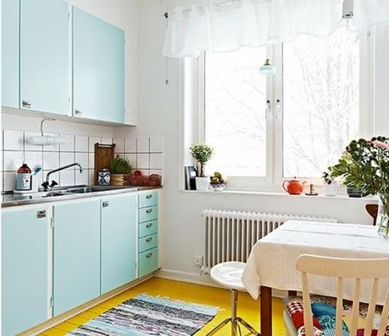 cocinas decoradas 18 Encantadoras Cocinas Decoradas En Color Pastel
