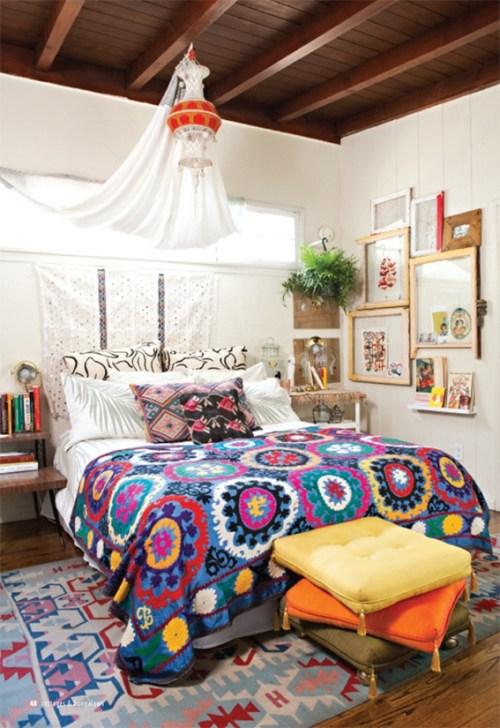 dormitorio estilo bohemio