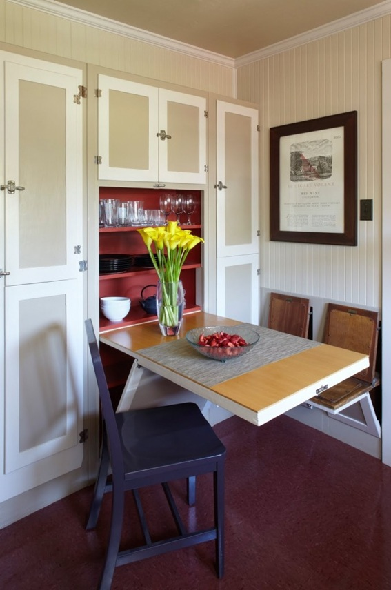 12 Diseños Cocinas Con Mesas Plegables Para Ahorrar Espacio