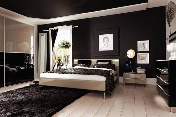 14 fotos de dormitorios con paredes color negro - Colores pared dormitorio ...