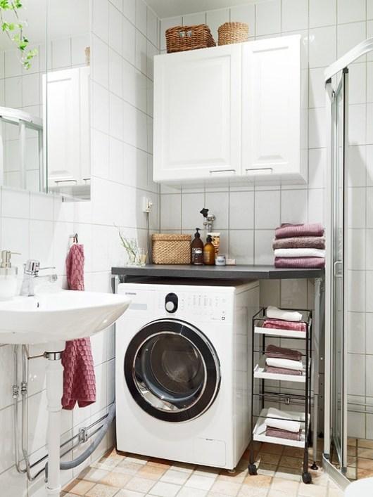 Ideas para Incluir la Lavadora en el Cuarto de Baño