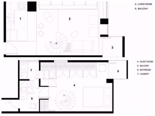 foto de duplex 48 metros cuadrados