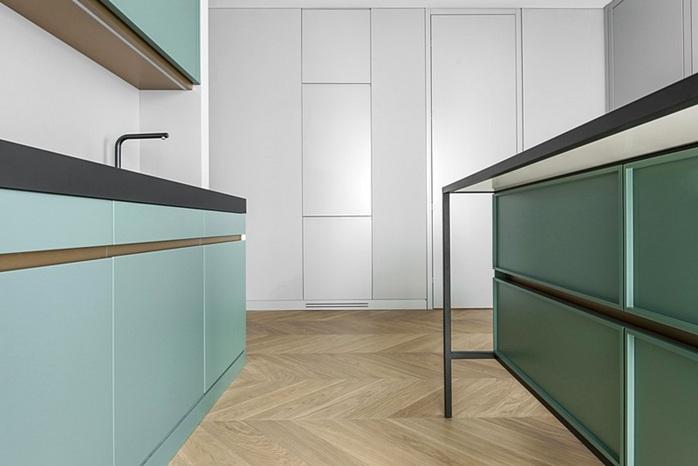 Moderno y peque o apartamento decorado en lituania for Acabados apartamentos pequenos
