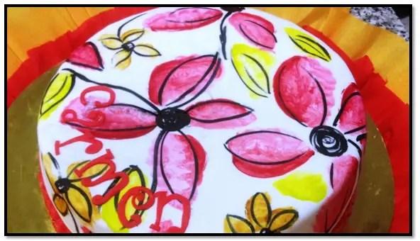 Como Pintar Sobre Fondant Con Colorante En Pasta