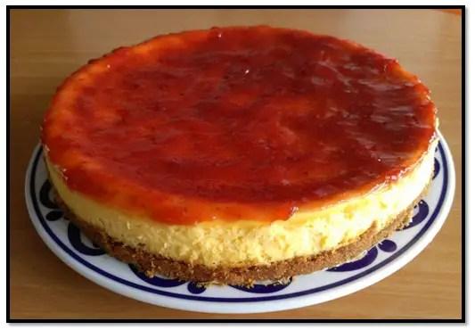 Torta Fría De Fresa