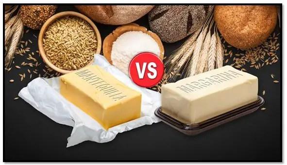 diferencia entre mantequilla y margarina en repostería