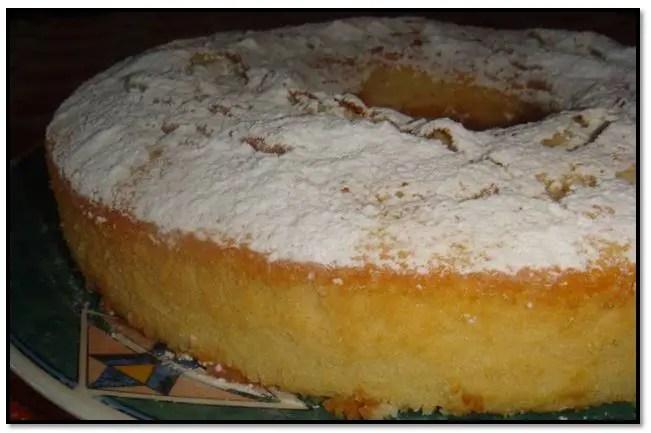 Torta húmeda de vainilla