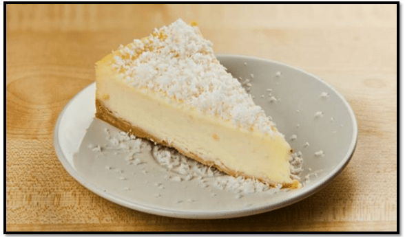 receta de cheesecake de coco