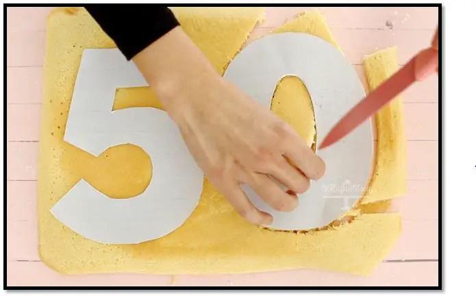como hacer una torta de numero sin molde