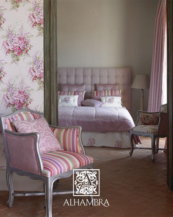 cama sofa forja accent pillows for cheap ambientes con telas de flores y en rosa – villalba ...