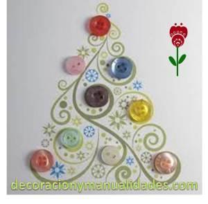 tarjeta navideña con pinito de navidad