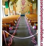 Como decorar el camino al altar de la iglesia