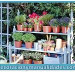 Mueble para jardin en espacios reducidos