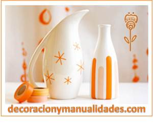 decora tus recipientes de porcelana