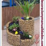 Escultura floral de jardin