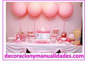 decoracion para baby shower de niña