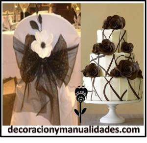 decoracion boda blanco y negro