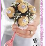 Ramo de novia de chocolates