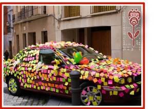 etiquetas de amor en el carro