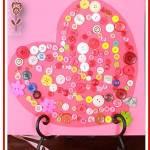 Corazón con botones San Valentin