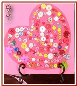 corazon de botones san valentin