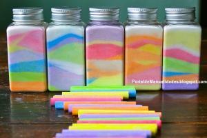 RainbowinJar. manualidades faciles