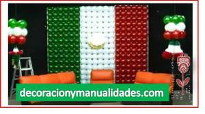 bandera mexicana de globos