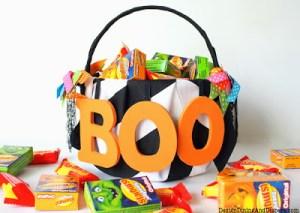 Canasta de dulces BOO para este Halloween 3