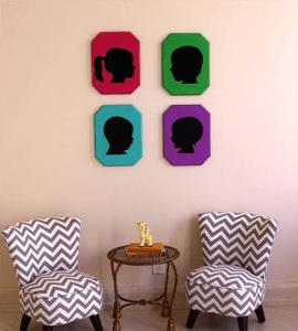 Crea tus propias siluetas vintage para decorar las paredes 1
