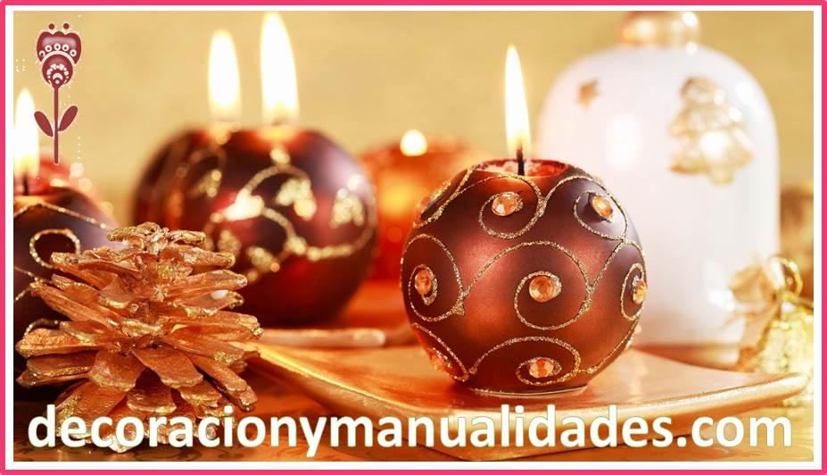 Decoracion Y Manualidadeselegantes Velas Navideñas Decoradas