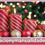 Elegantes velas navideñas decoradas
