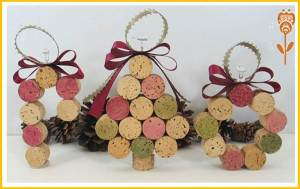 baston pino y corona de navidad