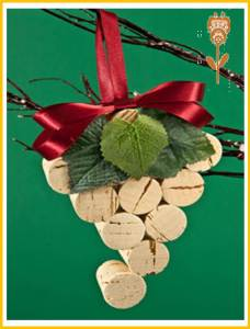 racimo de uvas de navidad