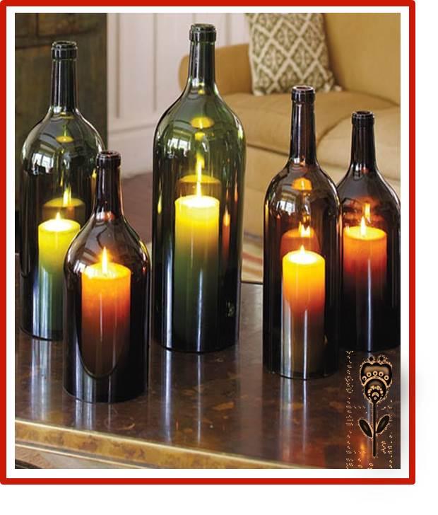 Decoracion y manualidadesdecoracion y manualidades - Botellas con velas ...