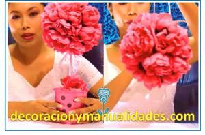 esferas florales decorativas