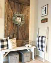 45 Welcoming Rustic Farmhouse Entryway Decorating Ideas