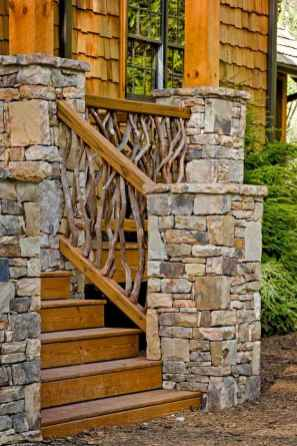 51 Beautiful Wooden and Stone Front Porch Ideas