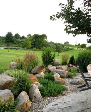 57 Gorgeous Front Yard Rock Garden Landscaping Ideas