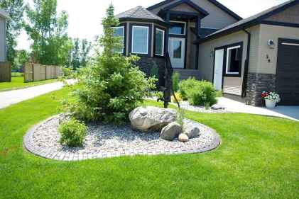 58 Gorgeous Front Yard Rock Garden Landscaping Ideas