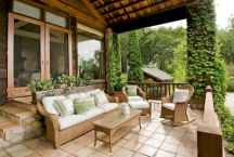 62 Beautiful Wooden and Stone Front Porch Ideas