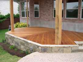 63 Beautiful Wooden and Stone Front Porch Ideas