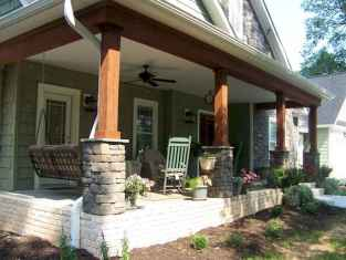 78 Beautiful Wooden and Stone Front Porch Ideas