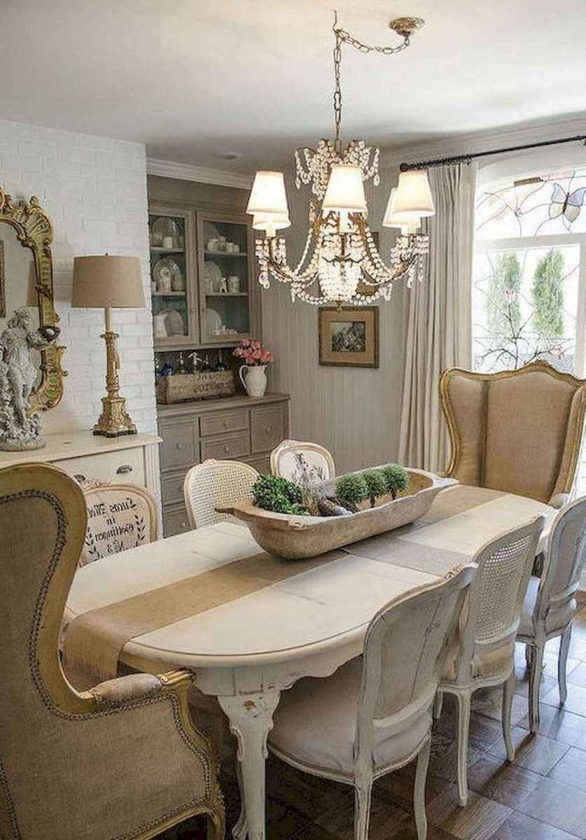01 Gorgeous French Country Dining Room Decor Ideas