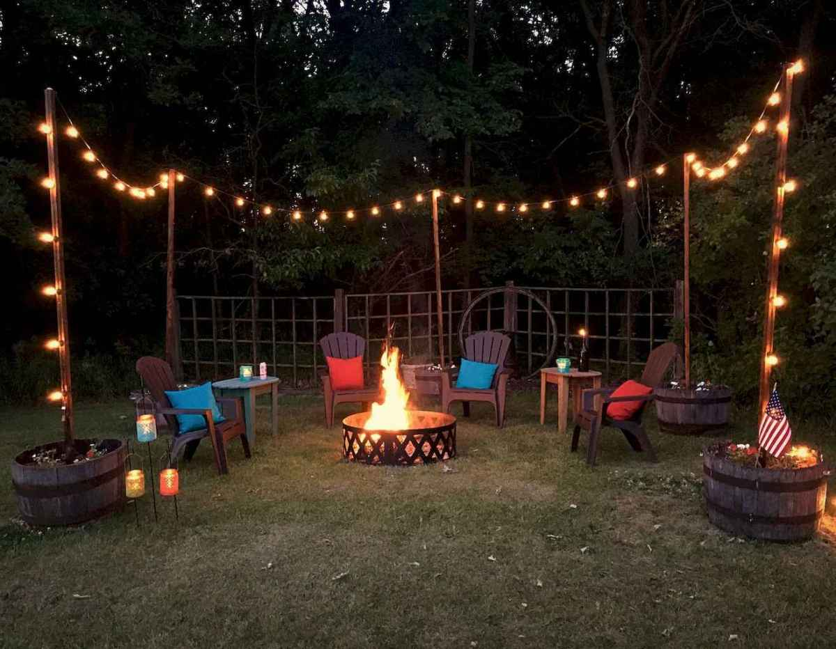 47 Awesome Backyard Fire Pits with Seating Ideas