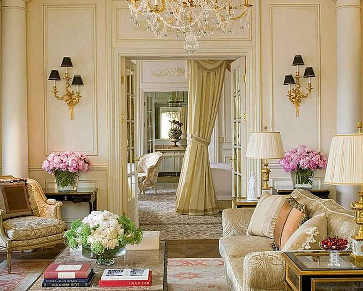 48 Incredible French Country Living Room Decor Ideas