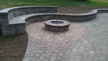 02 Easy Cheap Backyard Fire Pit Seating Area Design Ideas