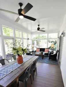 02 Gorgeous Farmhouse Screened In Porch Design Ideas for Relaxing