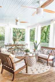 09 Gorgeous Farmhouse Screened In Porch Design Ideas for Relaxing